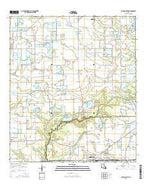 Eunice North Louisiana Current topographic map, 1:24000 scale, 7.5 X 7.5 Minute, Year 2015 from Louisiana Map Store