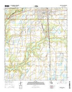 Eunice South Louisiana Current topographic map, 1:24000 scale, 7.5 X 7.5 Minute, Year 2015 from Louisiana Map Store
