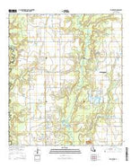 Evangeline Louisiana Current topographic map, 1:24000 scale, 7.5 X 7.5 Minute, Year 2015 from Louisiana Map Store