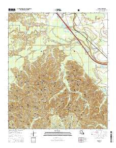 Flora Louisiana Current topographic map, 1:24000 scale, 7.5 X 7.5 Minute, Year 2015