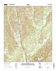 Florien Louisiana Current topographic map, 1:24000 scale, 7.5 X 7.5 Minute, Year 2015
