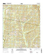 Folsom Louisiana Current topographic map, 1:24000 scale, 7.5 X 7.5 Minute, Year 2015 from Louisiana Map Store