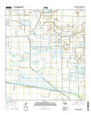 Forked Island NW Louisiana Current topographic map, 1:24000 scale, 7.5 X 7.5 Minute, Year 2015 from Louisiana Maps Store