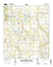 Fort Necessity Louisiana Current topographic map, 1:24000 scale, 7.5 X 7.5 Minute, Year 2015 from Louisiana Maps Store