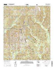 Fort Polk Louisiana Current topographic map, 1:24000 scale, 7.5 X 7.5 Minute, Year 2015 from Louisiana Maps Store