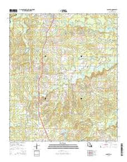 Gloster Louisiana Current topographic map, 1:24000 scale, 7.5 X 7.5 Minute, Year 2015 from Louisiana Maps Store