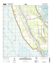 Golden Meadow Louisiana Current topographic map, 1:24000 scale, 7.5 X 7.5 Minute, Year 2015 from Louisiana Maps Store