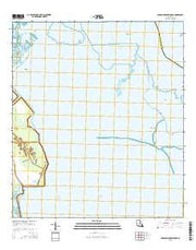 Golden Meadow Farms Louisiana Current topographic map, 1:24000 scale, 7.5 X 7.5 Minute, Year 2015 from Louisiana Maps Store