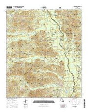 Goldonna Louisiana Current topographic map, 1:24000 scale, 7.5 X 7.5 Minute, Year 2015 from Louisiana Maps Store