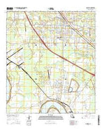 Gonzales Louisiana Current topographic map, 1:24000 scale, 7.5 X 7.5 Minute, Year 2015 from Louisiana Map Store