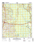 Haaswood Louisiana Current topographic map, 1:24000 scale, 7.5 X 7.5 Minute, Year 2015 from Louisiana Map Store
