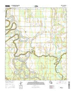 Hebert Louisiana Current topographic map, 1:24000 scale, 7.5 X 7.5 Minute, Year 2015 from Louisiana Map Store