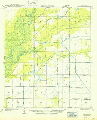Hecker Louisiana Historical topographic map, 1:31680 scale, 7.5 X 7.5 Minute, Year 1950