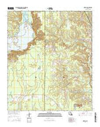 Hortman Louisiana Current topographic map, 1:24000 scale, 7.5 X 7.5 Minute, Year 2015 from Louisiana Map Store