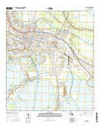 Houma Louisiana Current topographic map, 1:24000 scale, 7.5 X 7.5 Minute, Year 2015 from Louisiana Map Store