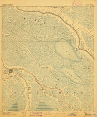Houma Louisiana Historical topographic map, 1:62500 scale, 15 X 15 Minute, Year 1892