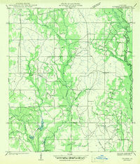 Husser Louisiana Historical topographic map, 1:31680 scale, 7.5 X 7.5 Minute, Year 1942