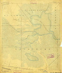 Lac Des Allemands Louisiana Historical topographic map, 1:62500 scale, 15 X 15 Minute, Year 1892
