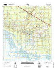 Lacombe Louisiana Current topographic map, 1:24000 scale, 7.5 X 7.5 Minute, Year 2015 from Louisiana Maps Store
