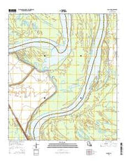 Lacour Louisiana Current topographic map, 1:24000 scale, 7.5 X 7.5 Minute, Year 2015 from Louisiana Maps Store