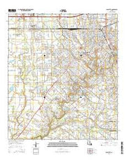 Lafayette Louisiana Current topographic map, 1:24000 scale, 7.5 X 7.5 Minute, Year 2015 from Louisiana Maps Store