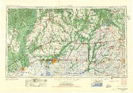 Lake Charles Louisiana Historical topographic map, 1:250000 scale, 1 X 2 Degree, Year 1952