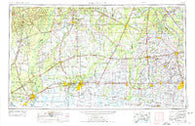 Lake Charles Louisiana Historical topographic map, 1:250000 scale, 1 X 2 Degree, Year 1954