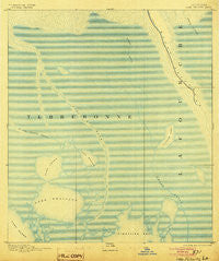 Lake Felicity Louisiana Historical topographic map, 1:62500 scale, 15 X 15 Minute, Year 1894