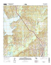 Leesville Louisiana Current topographic map, 1:24000 scale, 7.5 X 7.5 Minute, Year 2015 from Louisiana Maps Store