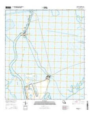 Leeville Louisiana Current topographic map, 1:24000 scale, 7.5 X 7.5 Minute, Year 2015 from Louisiana Maps Store