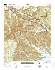 Lena Louisiana Current topographic map, 1:24000 scale, 7.5 X 7.5 Minute, Year 2015 from Louisiana Maps Store