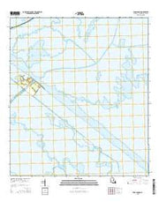 Lena Lagoon Louisiana Current topographic map, 1:24000 scale, 7.5 X 7.5 Minute, Year 2015 from Louisiana Maps Store