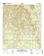 Montpelier Louisiana Current topographic map, 1:24000 scale, 7.5 X 7.5 Minute, Year 2015 from Louisiana Map Store