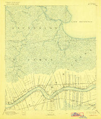Mount Airy Louisiana Historical topographic map, 1:62500 scale, 15 X 15 Minute, Year 1892