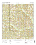 Mount Hermon Louisiana Current topographic map, 1:24000 scale, 7.5 X 7.5 Minute, Year 2015 from Louisiana Map Store