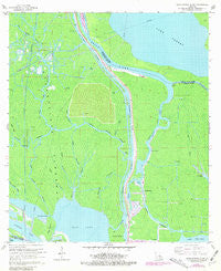 Napoleonville SW Louisiana Historical topographic map, 1:24000 scale, 7.5 X 7.5 Minute, Year 1966