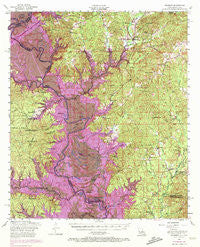 Negreet Louisiana Historical topographic map, 1:62500 scale, 15 X 15 Minute, Year 1954