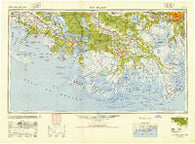 New Orleans Louisiana Historical topographic map, 1:250000 scale, 1 X 2 Degree, Year 1945