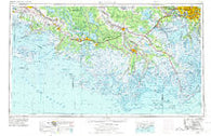 New Orleans Louisiana Historical topographic map, 1:250000 scale, 1 X 2 Degree, Year 1963