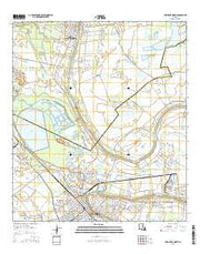New Iberia North Louisiana Current topographic map, 1:24000 scale, 7.5 X 7.5 Minute, Year 2015 from Louisiana Maps Store