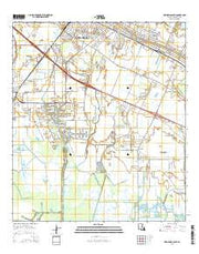 New Iberia South Louisiana Current topographic map, 1:24000 scale, 7.5 X 7.5 Minute, Year 2015 from Louisiana Maps Store