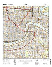 New Orleans East Louisiana Current topographic map, 1:24000 scale, 7.5 X 7.5 Minute, Year 2015 from Louisiana Maps Store