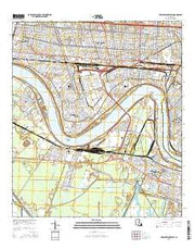 New Orleans West Louisiana Current topographic map, 1:24000 scale, 7.5 X 7.5 Minute, Year 2015 from Louisiana Maps Store