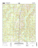 Oretta Louisiana Current topographic map, 1:24000 scale, 7.5 X 7.5 Minute, Year 2015 from Louisiana Map Store