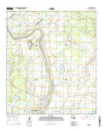 Parks Louisiana Current topographic map, 1:24000 scale, 7.5 X 7.5 Minute, Year 2015 from Louisiana Map Store