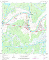Patterson Louisiana Historical topographic map, 1:24000 scale, 7.5 X 7.5 Minute, Year 1966