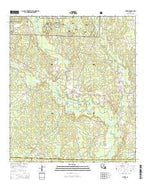 Pitkin Louisiana Current topographic map, 1:24000 scale, 7.5 X 7.5 Minute, Year 2015 from Louisiana Map Store