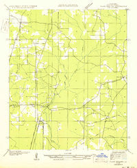 Plain Dealing SW Louisiana Historical topographic map, 1:31680 scale, 7.5 X 7.5 Minute, Year 1950