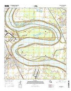 Plaquemine Louisiana Current topographic map, 1:24000 scale, 7.5 X 7.5 Minute, Year 2015 from Louisiana Map Store