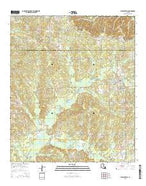 Pleasant Hill Louisiana Current topographic map, 1:24000 scale, 7.5 X 7.5 Minute, Year 2015 from Louisiana Map Store